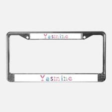 Yasmine Princess Balloons License Plate Frame