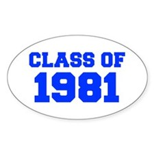 CLASS OF 1981-Fre blue 300 Decal