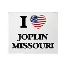 I love Joplin Missouri Throw Blanket