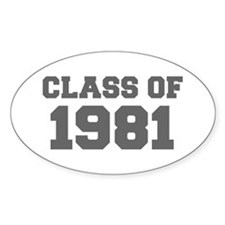 CLASS OF 1981-Fre gray 300 Decal