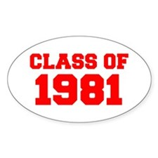 CLASS OF 1981-Fre red 300 Decal