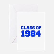 CLASS OF 1984-Fre blue 300 Greeting Cards