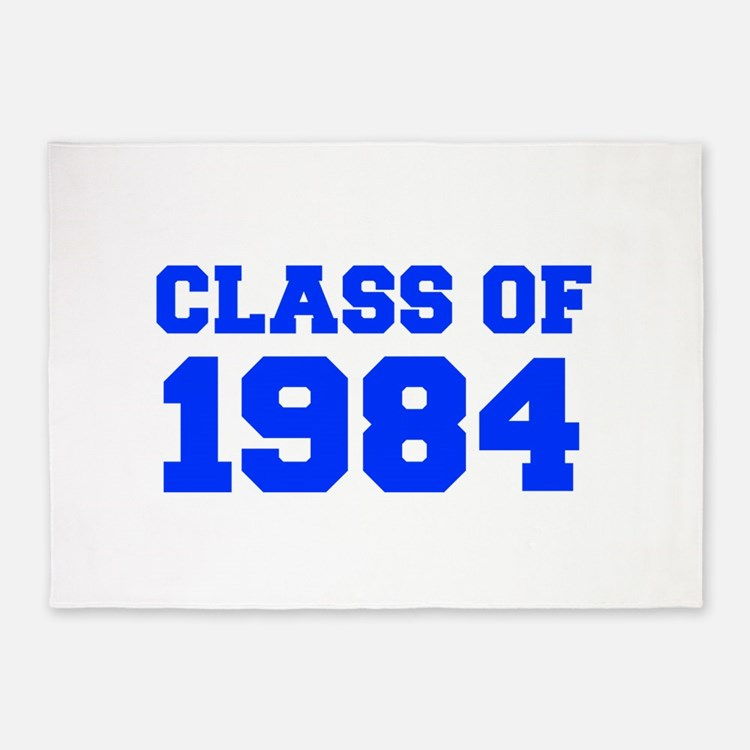 CLASS OF 1984-Fre blue 300 5'x7'Area Rug