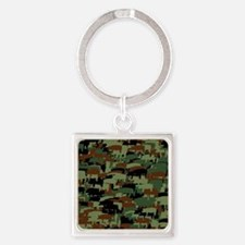 Funny Oink Square Keychain
