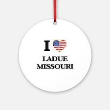 I love Ladue Missouri Ornament (Round)