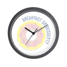 Breakfast or Dessert Wall Clock