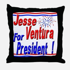 Ventura for President Throw Pillow