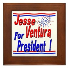Ventura for President Framed Tile