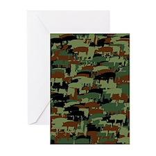 Piggyflage Greeting Cards