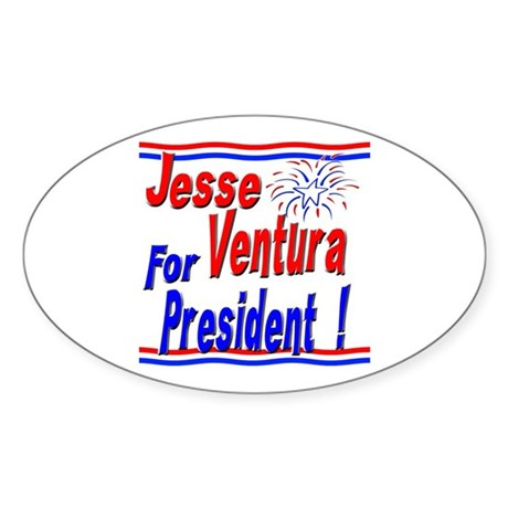 Ventura for President Oval Sticker