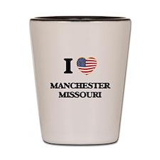I love Manchester Missouri Shot Glass