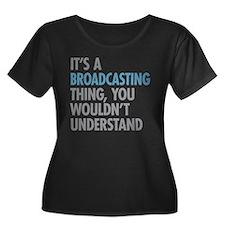 Broadcasting Plus Size T-Shirt