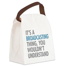 Broadcasting Canvas Lunch Bag