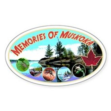Memories Of Muskoka 8 Oval Bumper Stickers