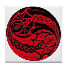 Dragon Spike Yinyang Tile Coaster