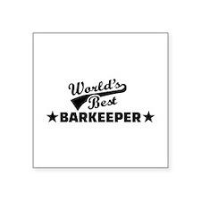 "World's best barkeeper bart Square Sticker 3"" x 3"""