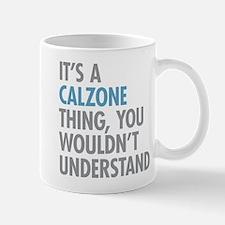 Calzone Thing Mugs