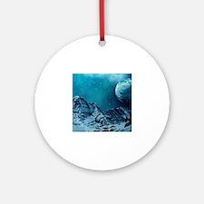 Unique Space mountain Round Ornament