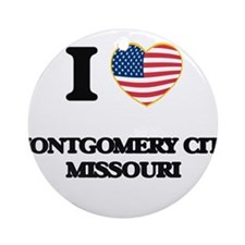 I love Montgomery City Missouri Ornament (Round)