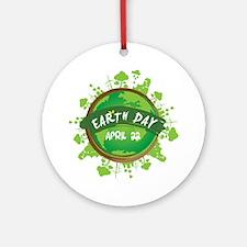 Earth Day April 22 Round Ornament