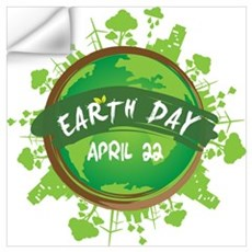 Earth Day April 22 Wall Decal