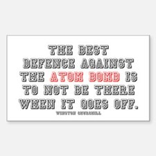 ATOMIC BOMB DEFENCE Decal