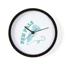 Pen Pals Wall Clock