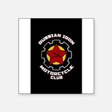 "Motorcycle sidecar Square Sticker 3"" x 3"""
