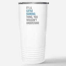 Cattle Farming Stainless Steel Travel Mug