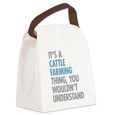 Cattle Farming Canvas Lunch Bag