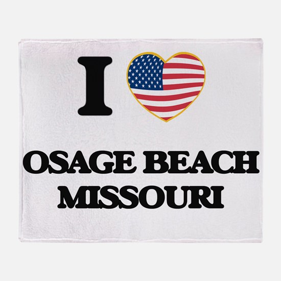 I love Osage Beach Missouri Throw Blanket