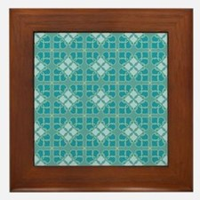 Muted Medallion Framed Tile