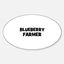 blueberry farmer Oval Decal