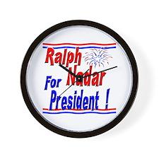 Nadar for President Wall Clock