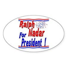 Nadar for President Oval Decal