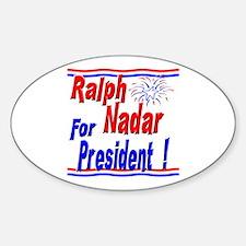 Nadar for President Oval Decal