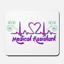 Medical Assistant Heart Beat Mousepad