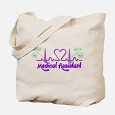 Medical Assistant Heart Beat Tote Bag