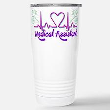 Medical Assistant Heart Beat Travel Mug
