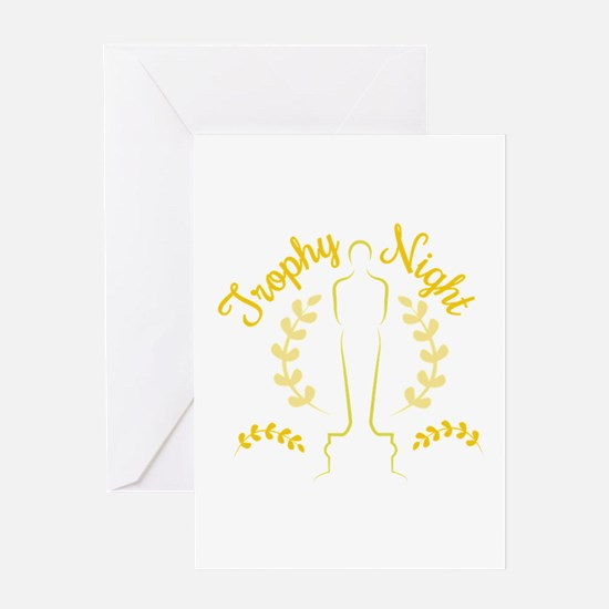 Trophy Night Greeting Cards