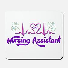 Nursing Assistant CNA Heart Beat Mousepad