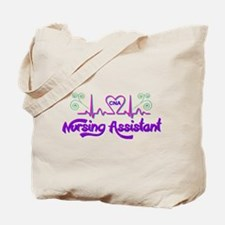 Nursing Assistant CNA Heart Beat Tote Bag