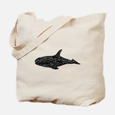 Distressed Whale Silhouette Tote Bag