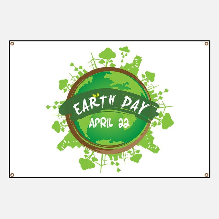 Earth Day April 22 Banner