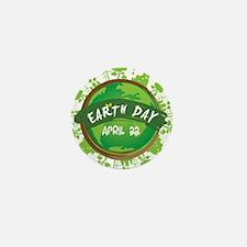 Earth Day April 22 Mini Button