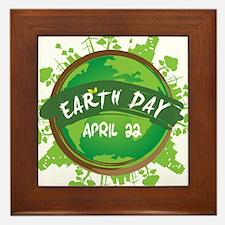 Earth Day April 22 Framed Tile