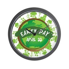 Earth Day April 22 Wall Clock