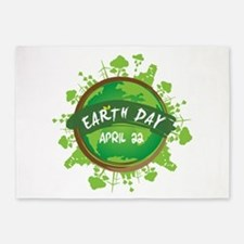Earth Day April 22 5'x7'Area Rug