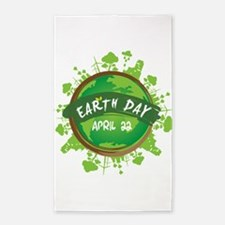 Earth Day April 22 Area Rug