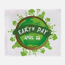 Earth Day April 22 Throw Blanket